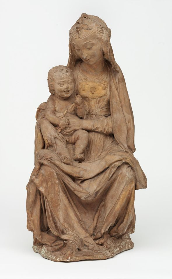 The Virgin with the laughing Child (around 1465) in the V&A collection is currently attributed to Antonio Rossellino
