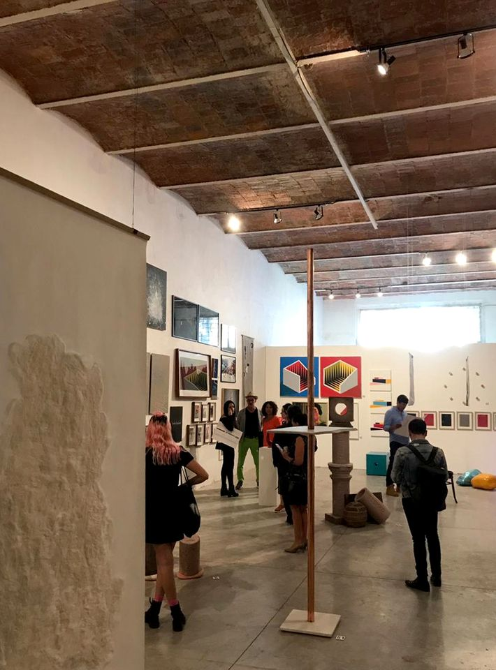 The room at Bodega Acme, where artists from previous editions of the project are showcased.