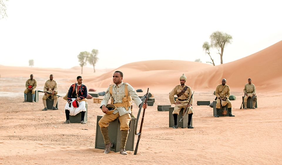 Still from John Akomfrah's multimedia installation Mimesis: African Soldier