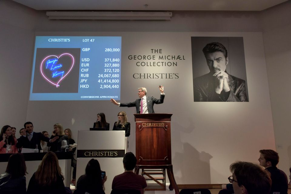 Bid me up before you go-go: sun goes down on George Michael's art collection at Christie's