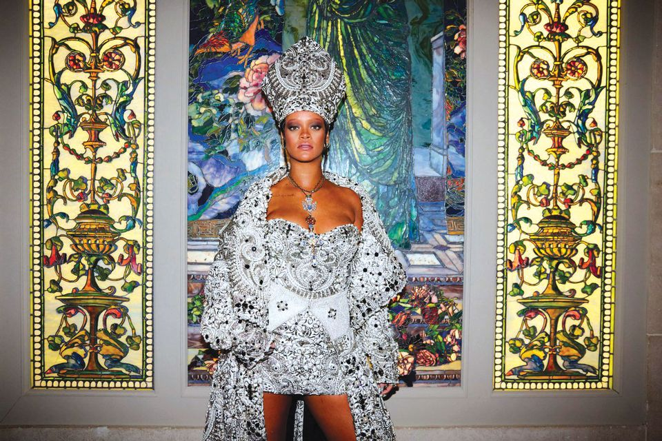 Rihanna attends the Heavenly Bodies: Fashion and the Catholic Imagination Costume Institute Gala at The Metropolitan Museum of Art