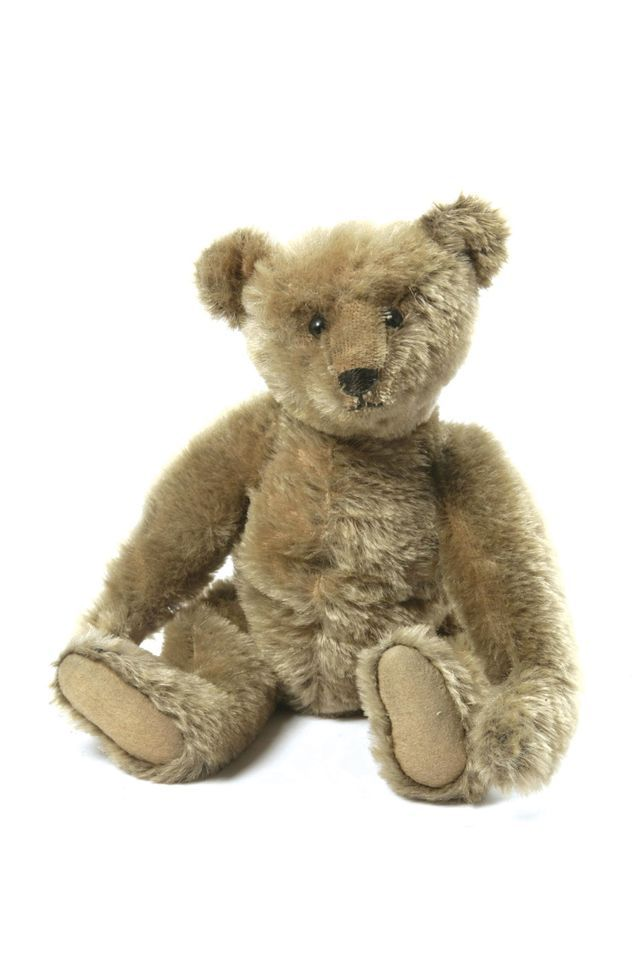 A teddy bear from the Victoria and Albert Museum's Winnie the Pooh show