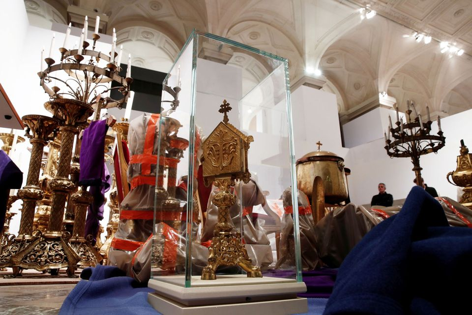 Saved treasures from Notre-Dame Cathedral are currently being stored at Paris city hall