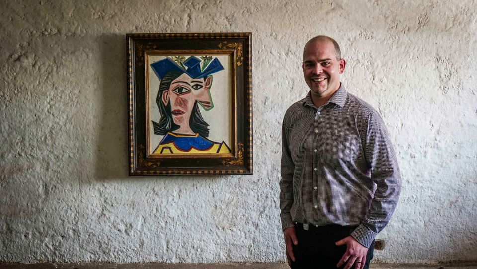 Down on the farm: Picasso masterpiece hangs in a Swiss barn