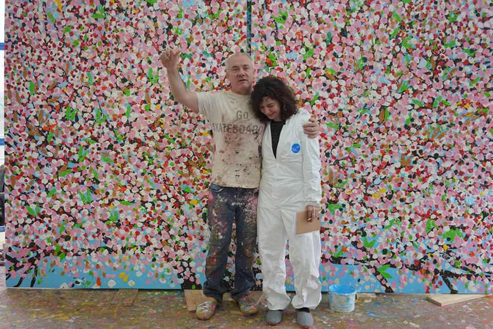 In pictures: first look at Damien Hirst's new blossom paintings
