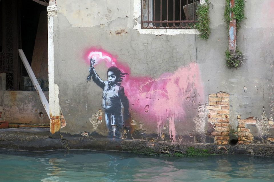 Has Banksy painted a new mural in Venice?