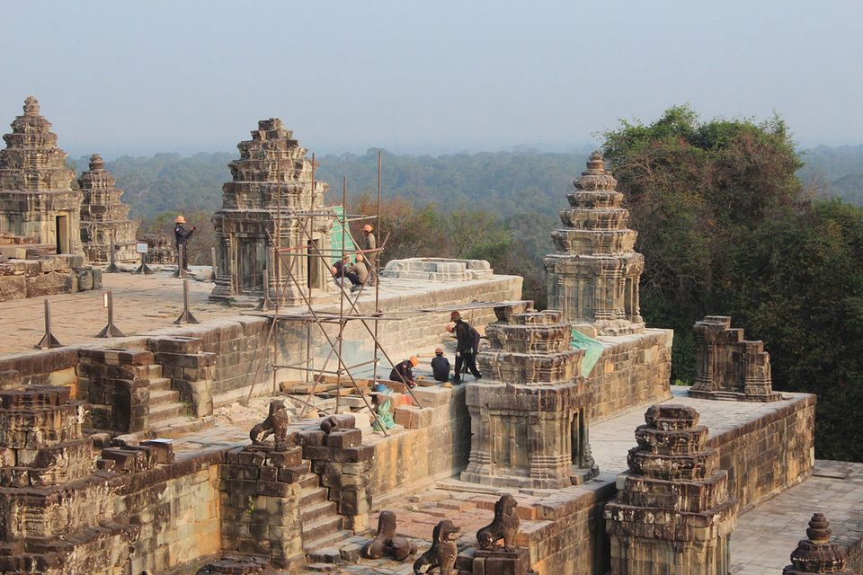 Conservation project channels thinking of Angkor's original builders