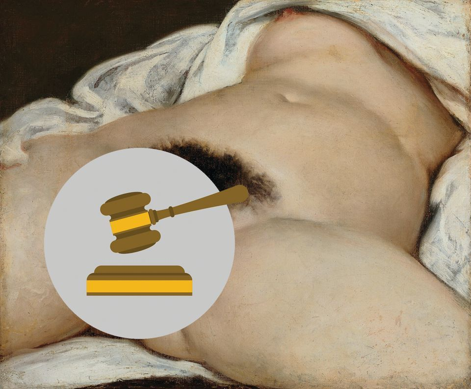 Facebook closed a teacher's account because he posted an image of Courbet's L'Origine du monde