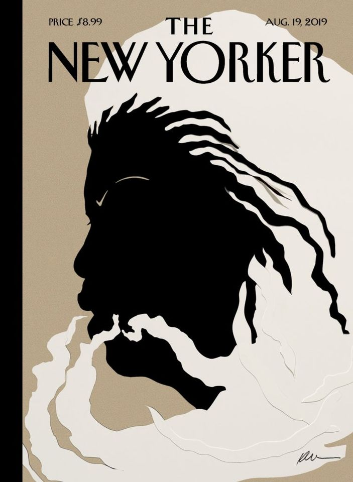 A homage: Kara Walker's silhouette of Toni Morrison for The New Yorker