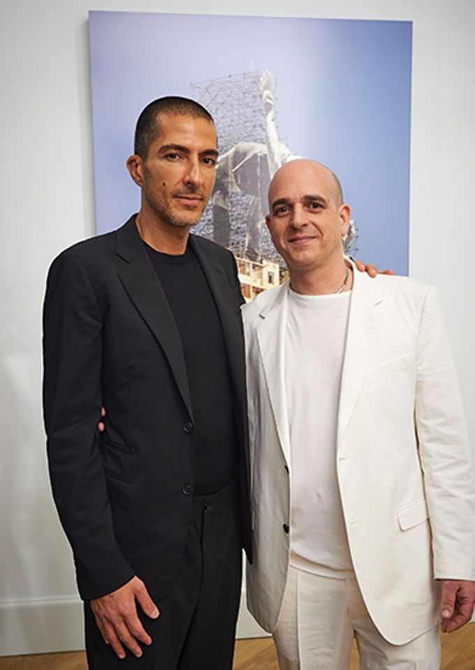 Wissam Al Mana and Steve Lazarides (right) at the Lazinc gallery they set up last year