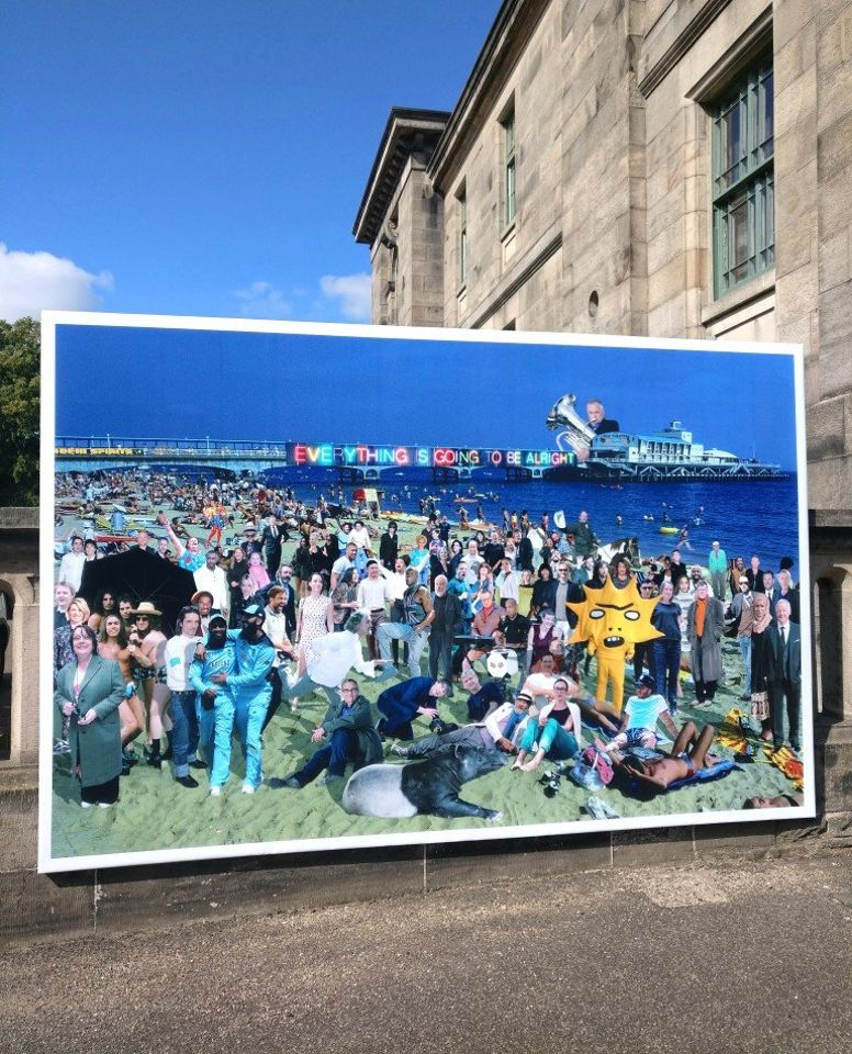 "Jeremy Deller and Lubaina Himid feature in Cold War Steve's ""inspirational"" new collage on show in Edinburgh"