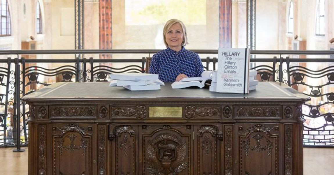 Hillary Clinton reads her infamous emails at the Venice Biennale