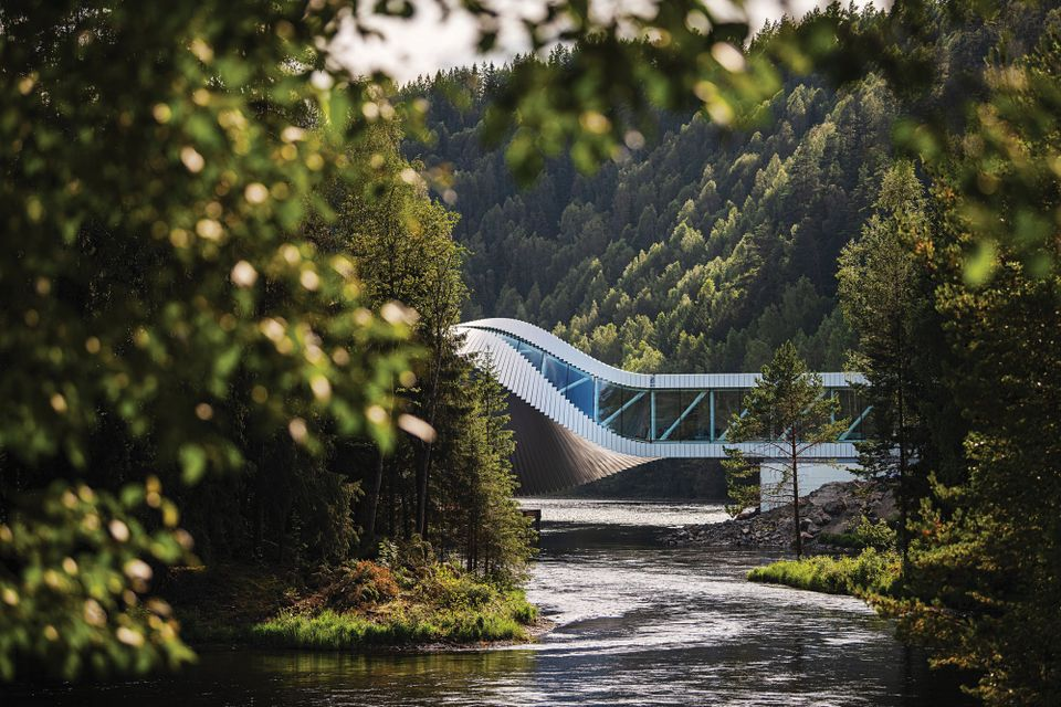 Norwegian sculpture park does the Twist with Bjarke Ingels extension