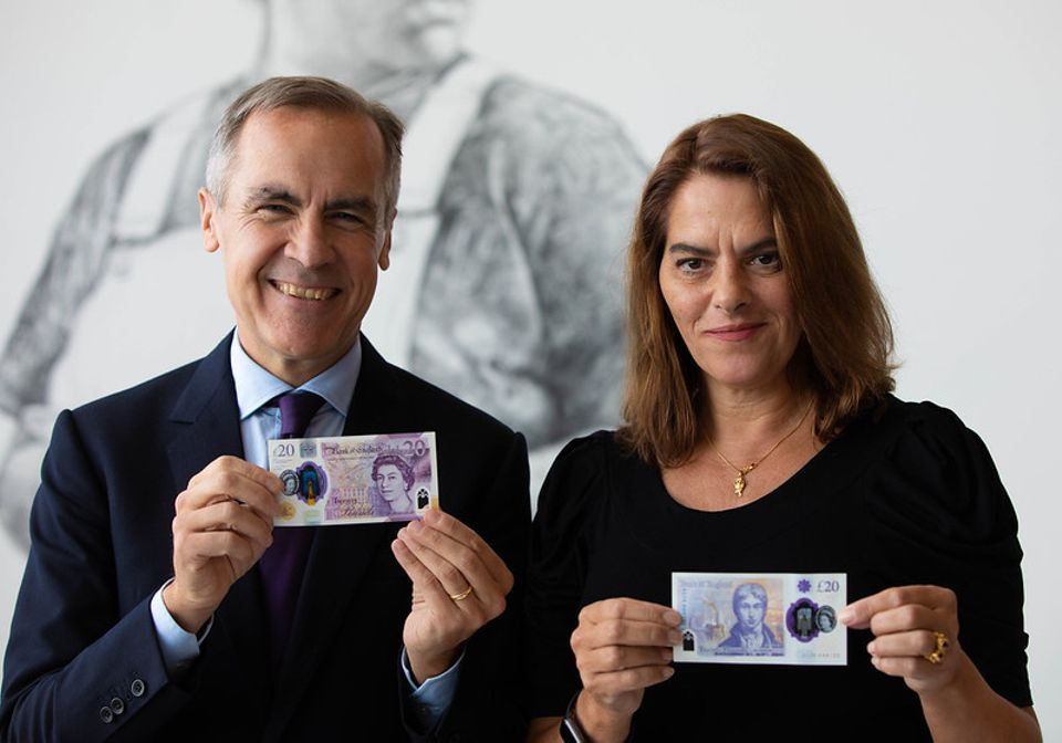 Kerching! Mark Carney and Tracey Emin reveal £20 note featuring JMW Turner