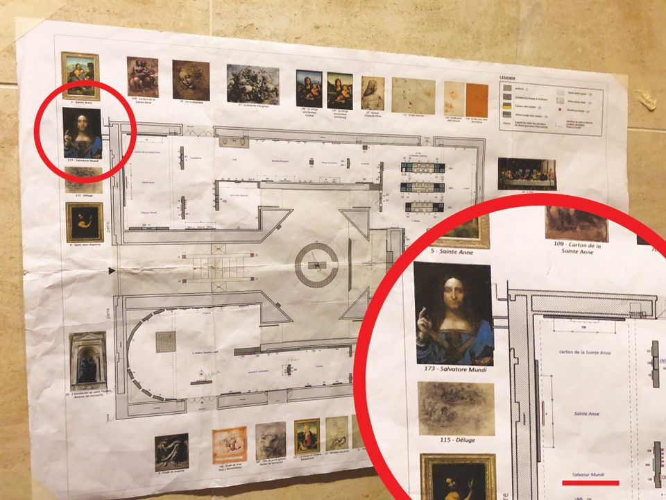 This exclusive photograph shows where the Salvator Mundi was supposed to hang at the Louvre's Leonardo show