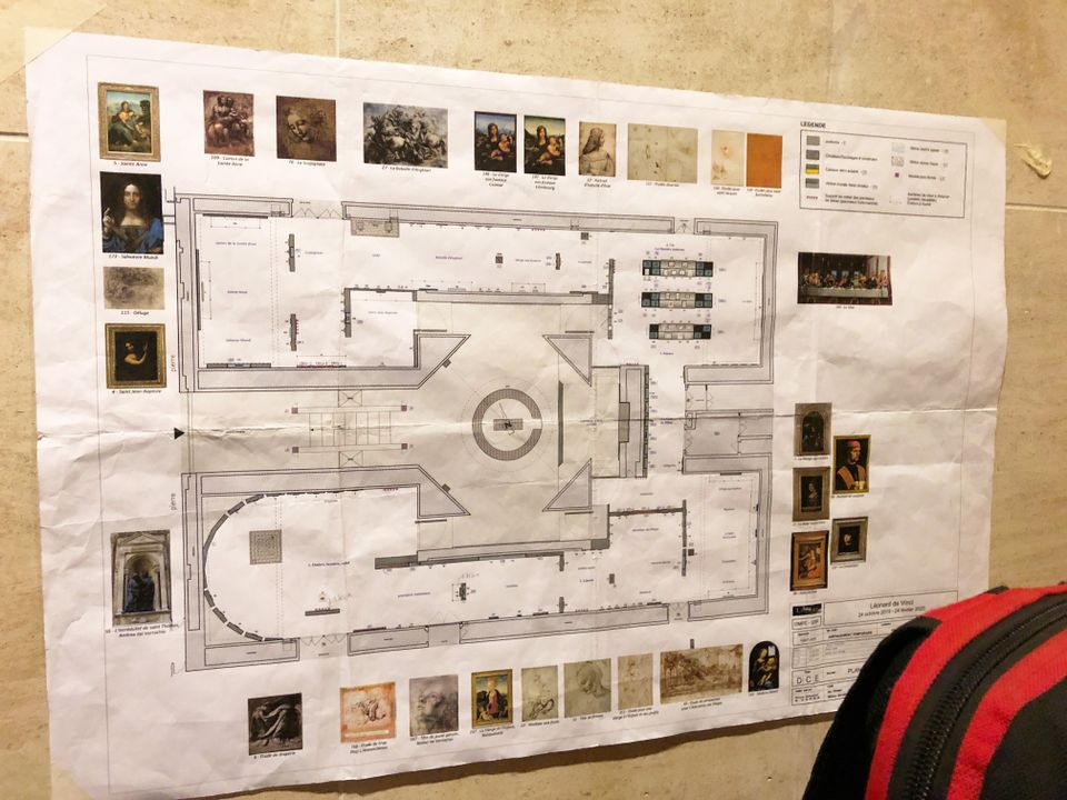 The full photograph of the Louvre's plan