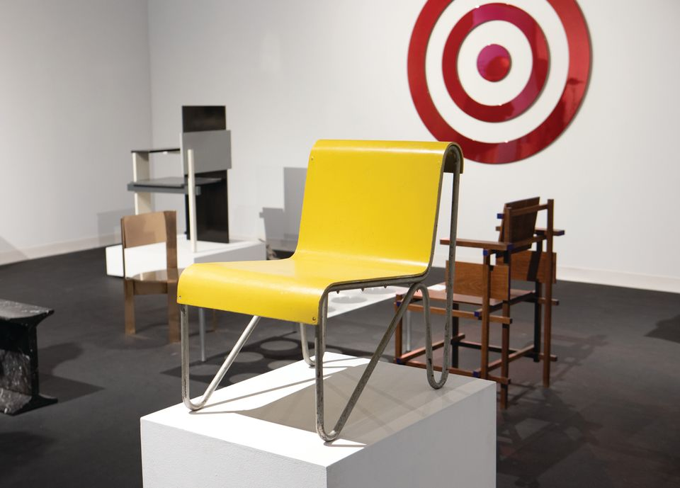 "Paul Frankl, Set of ""Speed"" lounge chairs and coffee table (around 1933), Moderne Gallery, $250,000 for the three: The Austrian designer created this set for his New York City home; known as ""Speed"" chairs because of the sense of motion conveyed in their lines, they represent one of his early experiments in cork. These low-slung chairs are rare in that Frankl used sheets of the material for most of their structure. ""It is among the most important sets he created,"" says the gallery's founder Robert Aibel. ""I've been hiding them away for a couple of years."""