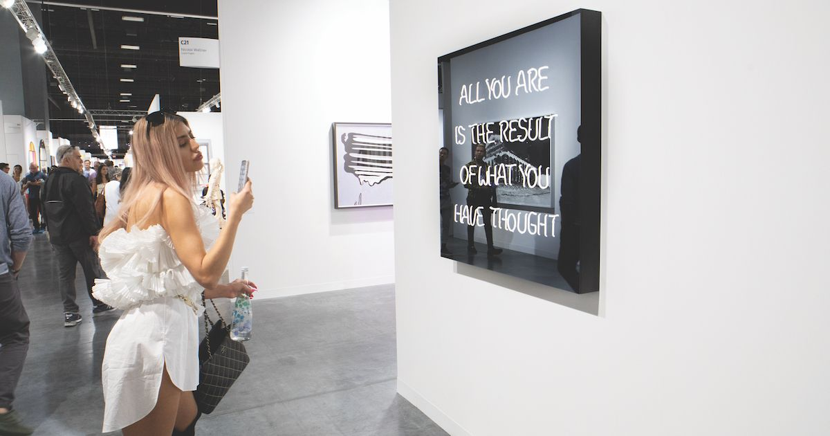 Text and slogan 'statement pieces' draw Instagram crowd to Art Basel