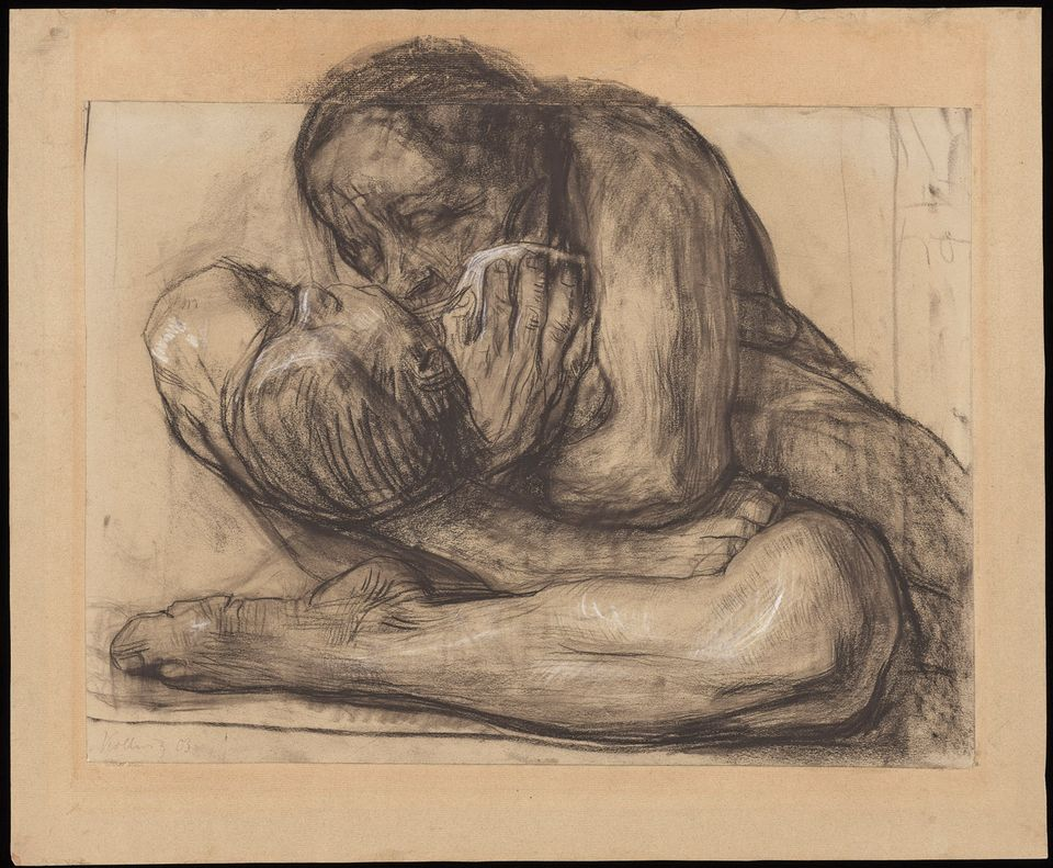 Woman with Dead Child (1903), one of the 650 works that Richard Simms gave to the Getty