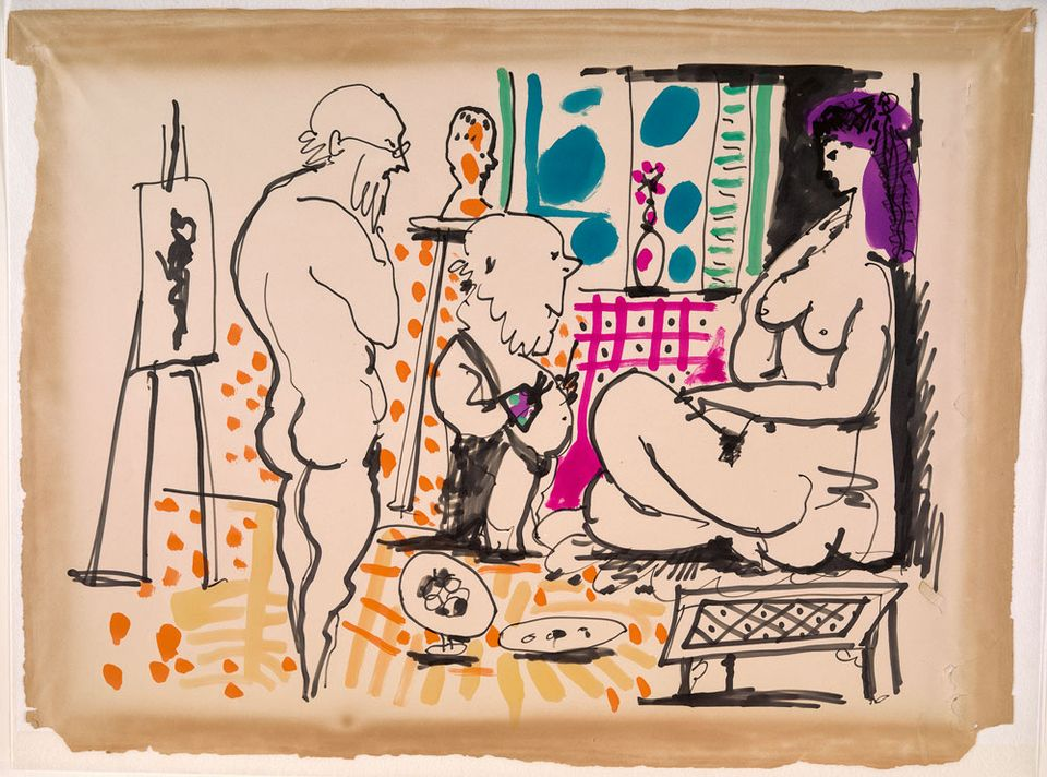 Royal Academy of Arts to show rare Picasso drawings from ground-breaking 1956 film of the artist at work