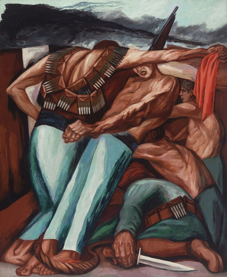 José Clemente Orozco's Mexican Revolution work Barricade (1931) Photo: Courtesy of the Whitney Museum of American Art; © The Estate of Philip Guston, courtesy McKee Gallery