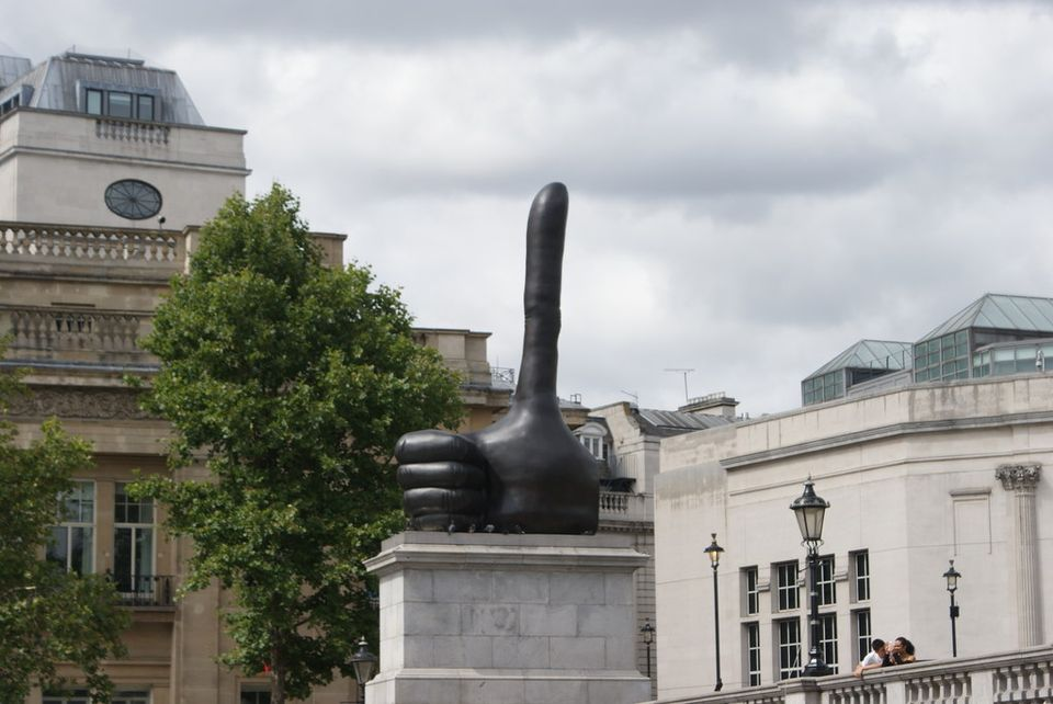 David Shrigley's Really Good appeared on the Fourth Plinth in Trafalgar Square only a few months after the EU referendum