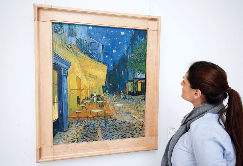Terrace of a Cafe at Night by Vincent van Gogh at Kroller-Muller Museum in the Netherlands