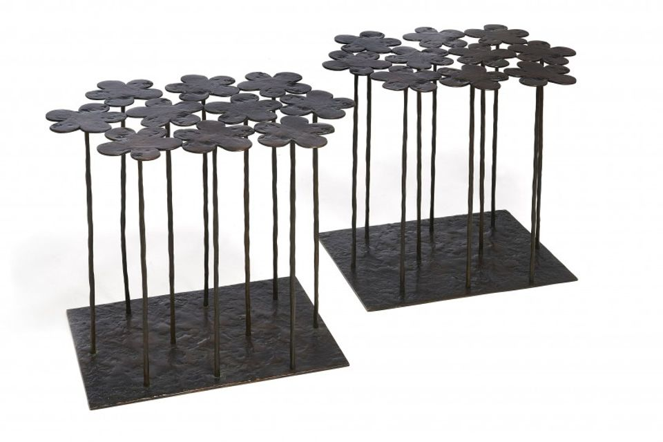Hubert Le Gall's pair of Marguerites tables (2008) sold at Artcurial for €33,800 (est €8,000-12,000)