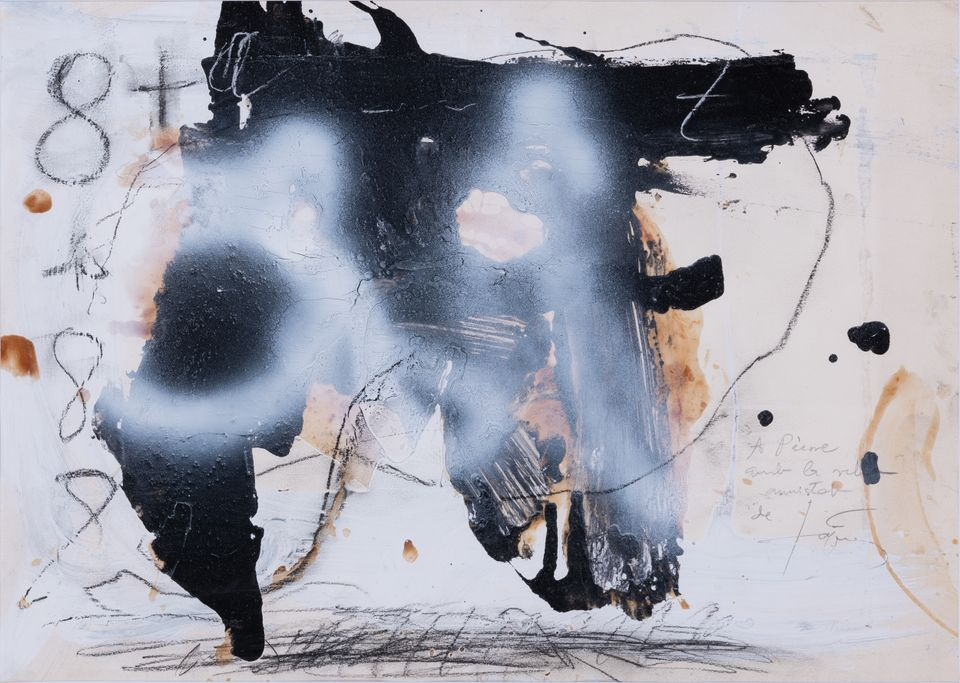 Antoni Tàpies  Untitled (around 1980, est. €18,000-€25,000) is going on sale at Piasa next week